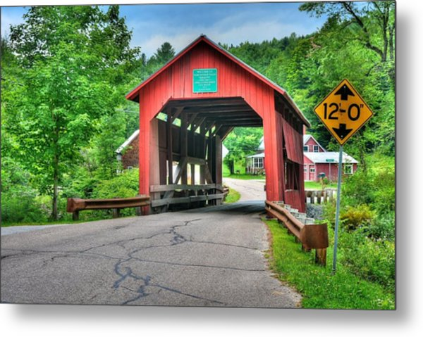 Cox Brook Bridge Metal Print
