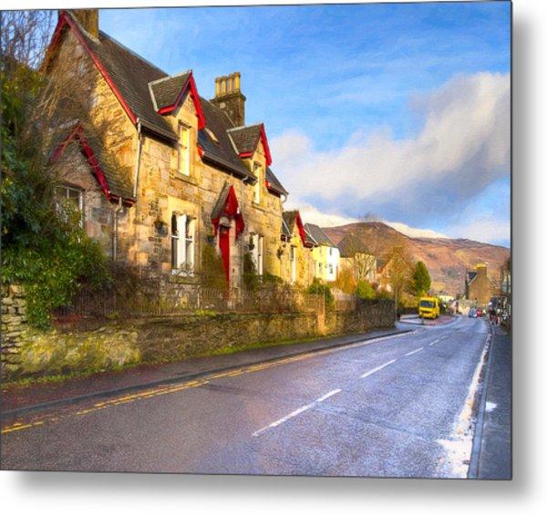 Cozy Cottage In A Scottish Village Metal Print