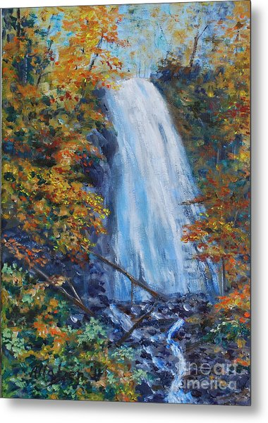 Crab Apple Falls Metal Print