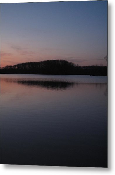 Crab Orchard Lake At Peace - 1 Metal Print