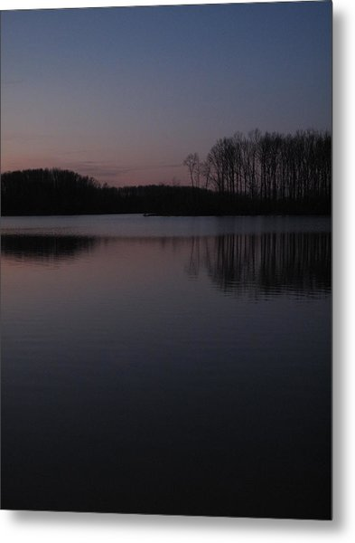 Crab Orchard Lake At Peace - 2 Metal Print