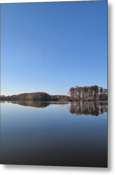Crab Orchard Lake's Blue Mood Metal Print