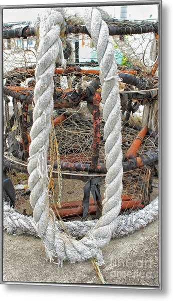 Crab Pots Metal Print