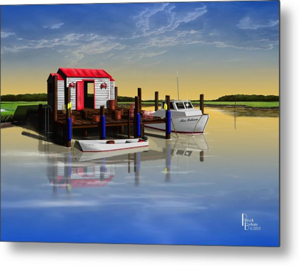 Crabby Shack Metal Print by Patrick Belote