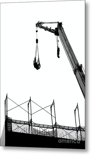 Crane And Construction Site Metal Print