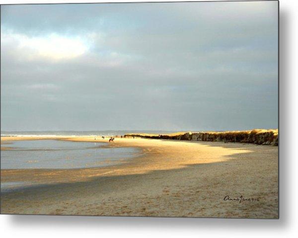 Metal Print featuring the photograph Crane Beach by AnnaJanessa PhotoArt