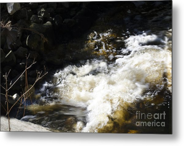 Crashing Water Metal Print