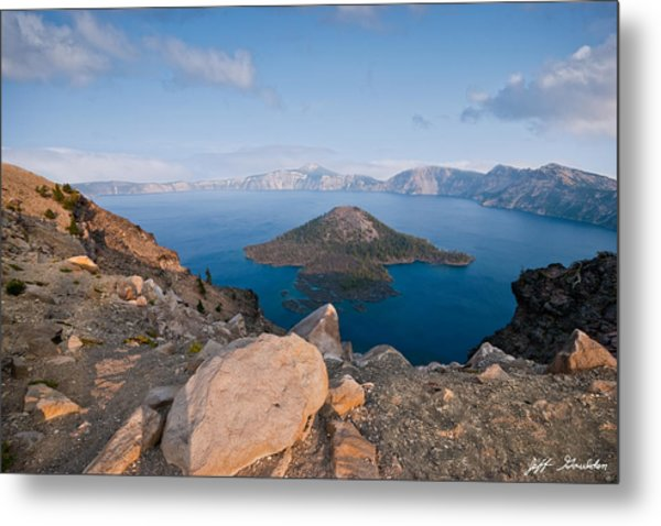Crater Lake In The Evening Metal Print