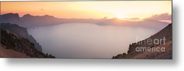 Crater Lake Panorama Metal Print