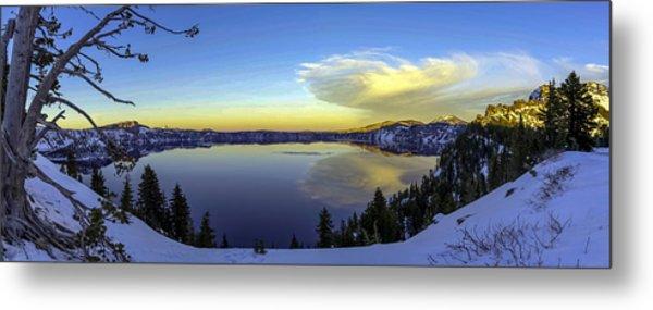 Crater Lake Panorama Metal Print