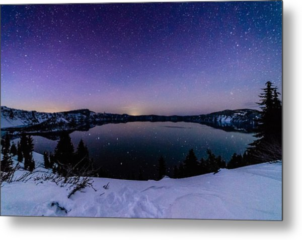 Crater Lake Reflections Metal Print