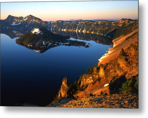 Crater Lake Sunrise Metal Print