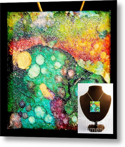 Crater Mountain Necklace Metal Print