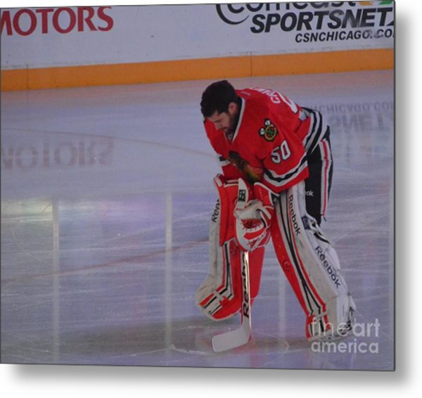 Crawford During The Anthem Metal Print
