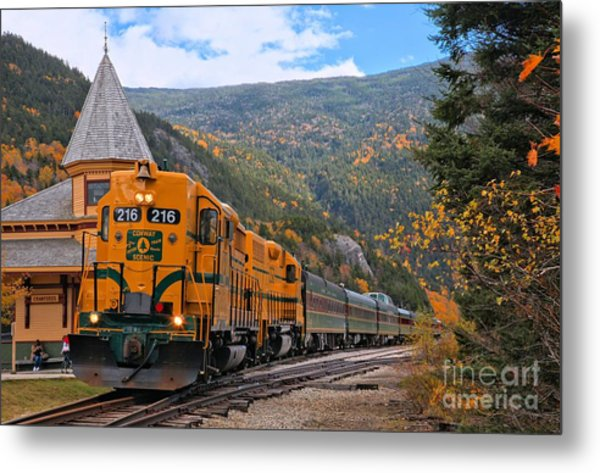 Crawford Notch Train Depot Metal Print