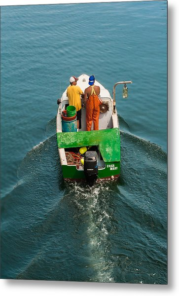 Crayola Lobsterboat Metal Print