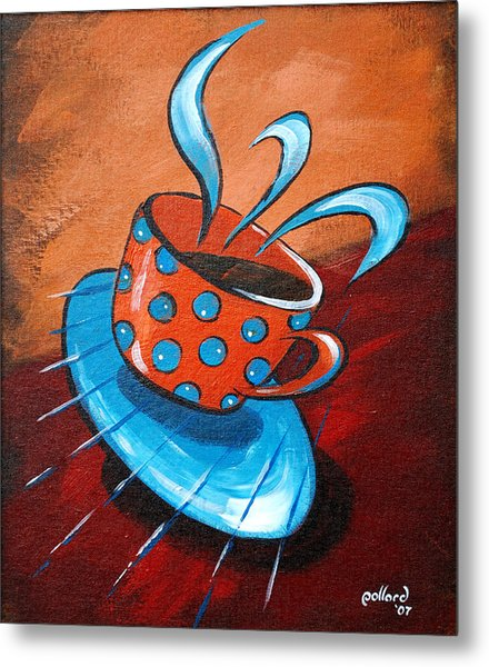 Crazy Coffee Metal Print