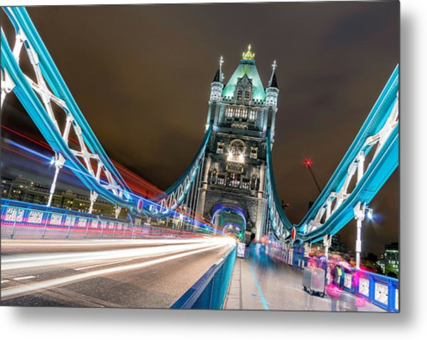 Crazy London Metal Print