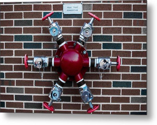 Crazy Water Pump Metal Print by Nathan Hillis