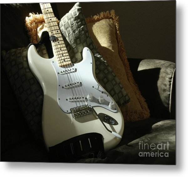 Cream Guitar Metal Print