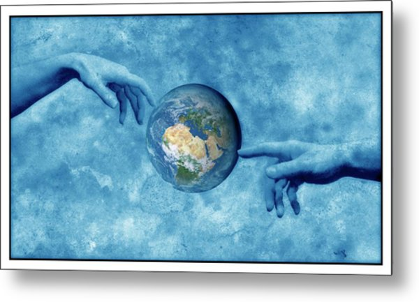 Creation Of The Earth Metal Print by Detlev Van Ravenswaay