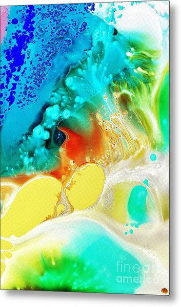 Creation Wave Metal Print
