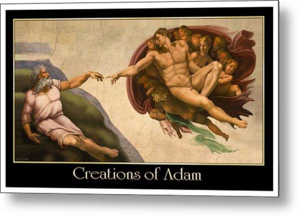 Creations Of Adam Metal Print