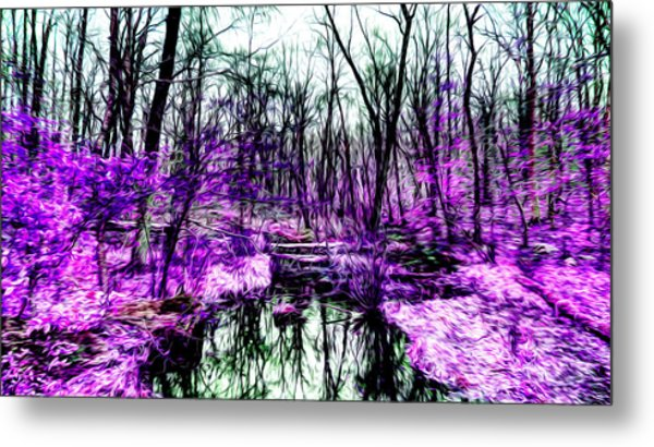 Creek By Purple Metal Print