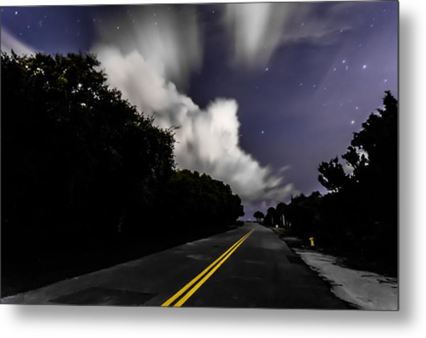 Creeping Clouds Metal Print