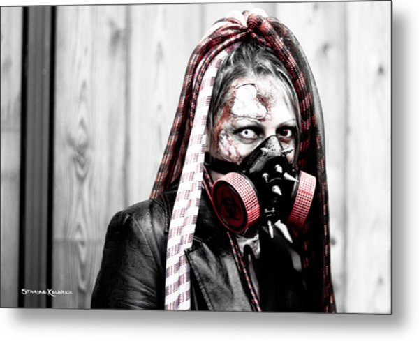 Creepy Red Vision Metal Print