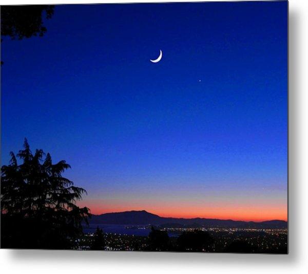 Crescent Moon San Francisco Bay Metal Print
