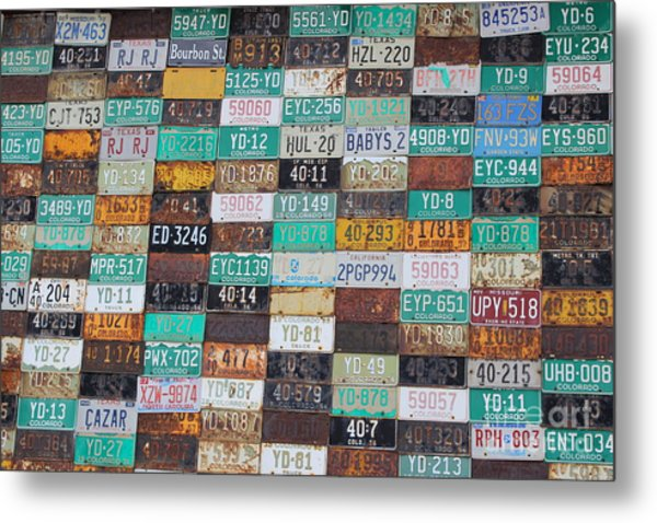 Crested Butte License Plate House Metal Print