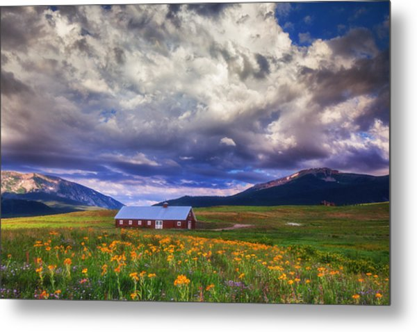 Crested Butte Morning Storm Metal Print