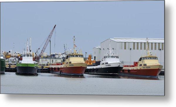Crew Boats At Port Fourchon Metal Print