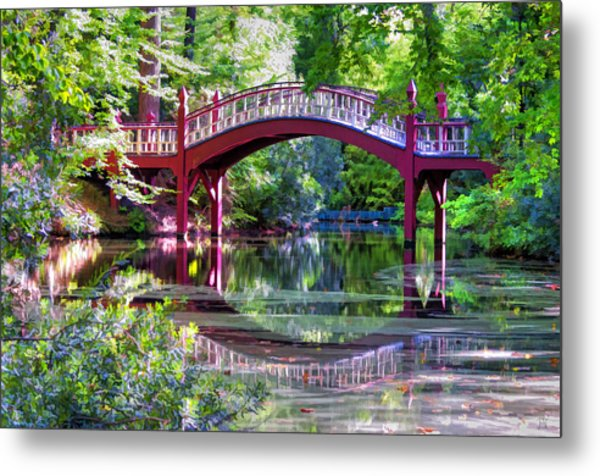 Crim Dell Bridge William And Mary College Metal Print