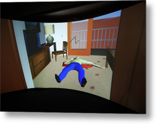 Crime Scene Reconstruction Metal Print by Louise Murray/science Photo Library