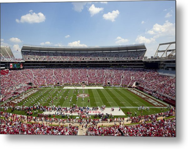 Crimson Tide A-day Football Game At University Of Alabama  Metal Print