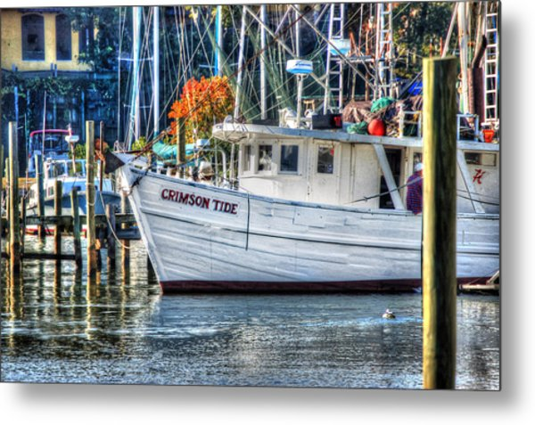 Crimson Tide In Harbor Metal Print