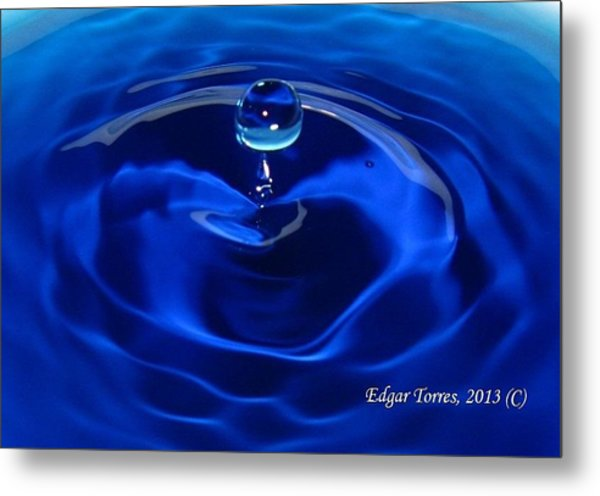 Cristal Blue Persuasion Metal Print