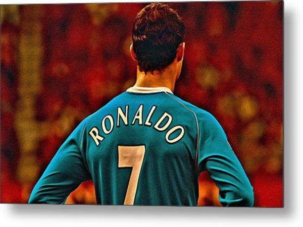 Cristiano Ronaldo Poster Art Metal Print