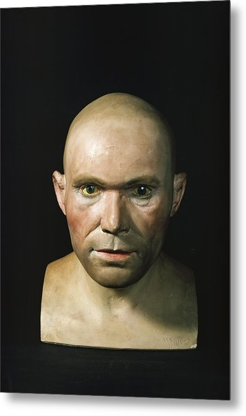 Cro-magnon Man Reconstructed Head Metal Print by Science Photo Library
