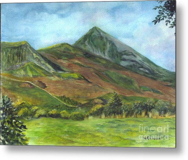 Croagh Saint Patricks Mountain In Ireland  Metal Print