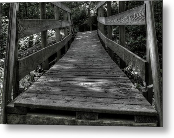 Crooked Bridge Metal Print