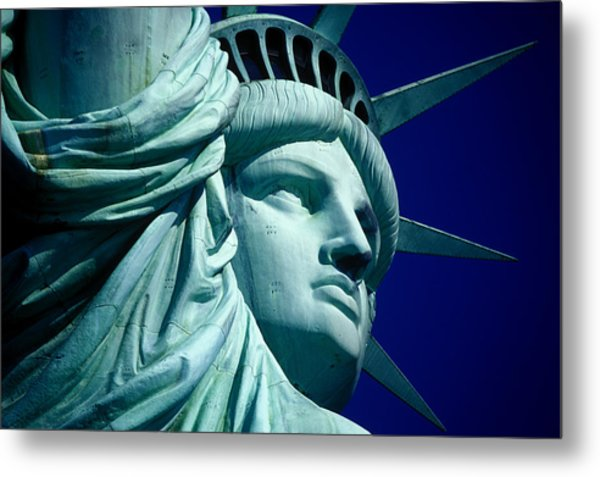 Cropped Image Of Statue Of Liberty Metal Print by Frank Schiefelbein / Eyeem