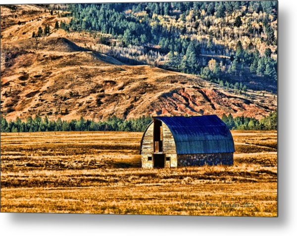 Cross Country Deserted Metal Print by Rebecca Adams