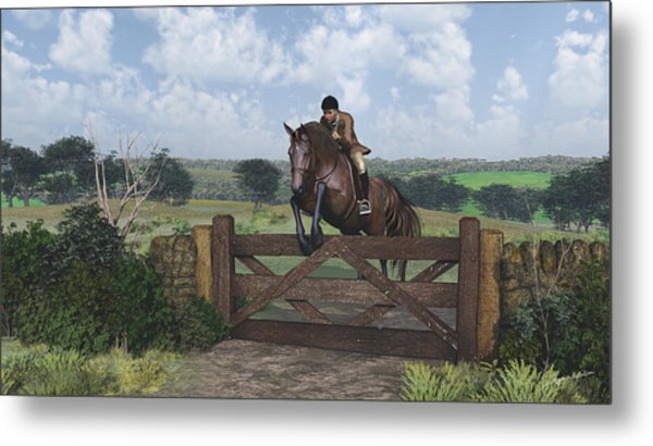 Cross Country Metal Print
