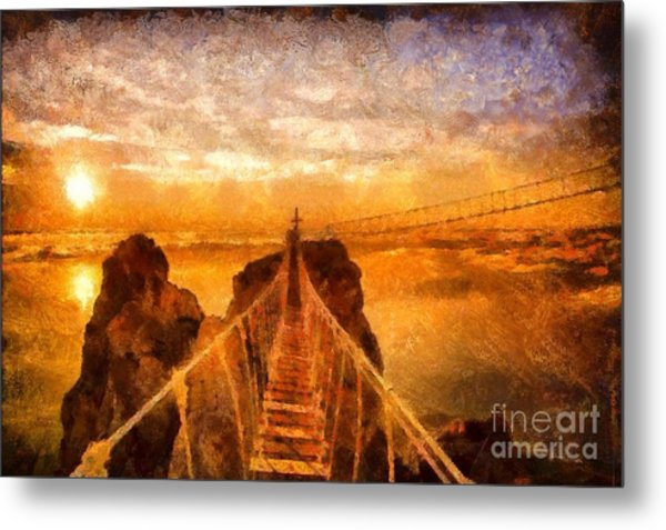 Cross That Bridge Metal Print