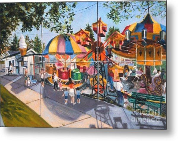 Crossbay Amusement Park Metal Print