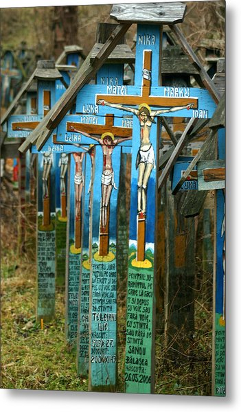 Crosses In An Orthodox Graveyard Metal Print