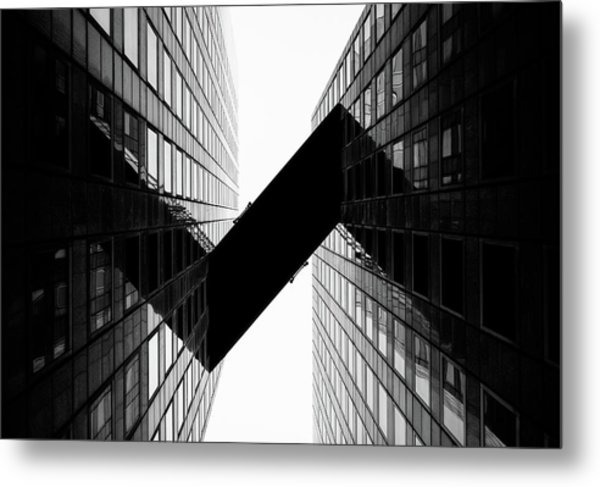 Crossing | La Defense Metal Print by © Giulio R.c.